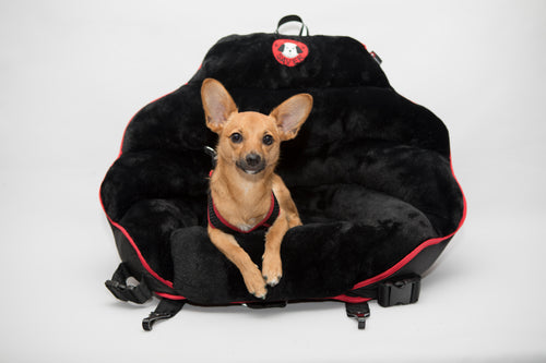 Black Plush With Red Trim Original PupSaver (For Dogs Up To 30 lbs)
