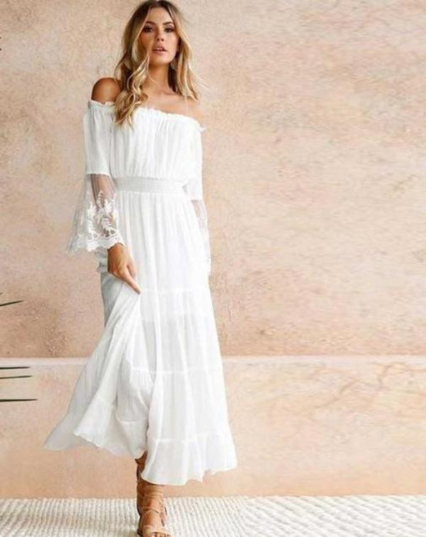 c2c99535f2be White Lace Off Shoulder Maxi Dress – Wanderlust Designs by Ashley