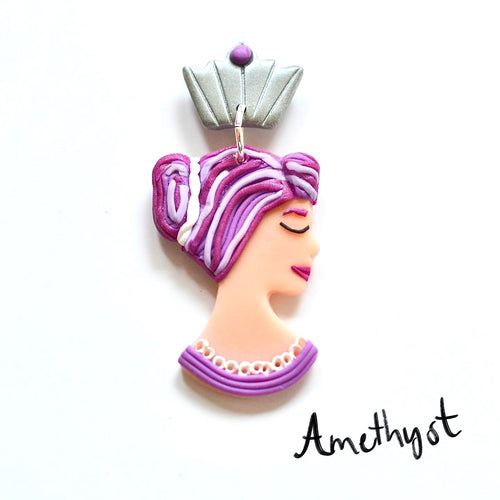 QUEENS Dangles - Amethyst