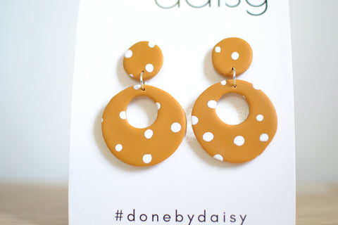 Polly Dangles - Mustard Spotty