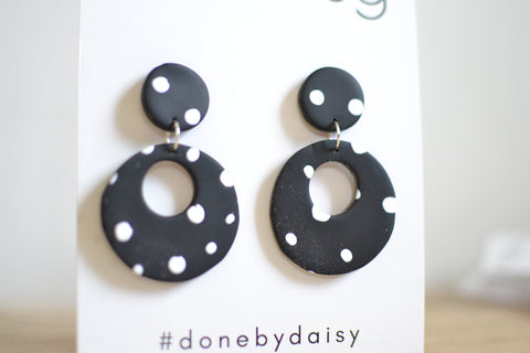 Polly Dangles - Black Spotty