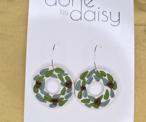 'Aussie Christmas Wreath' Hoops