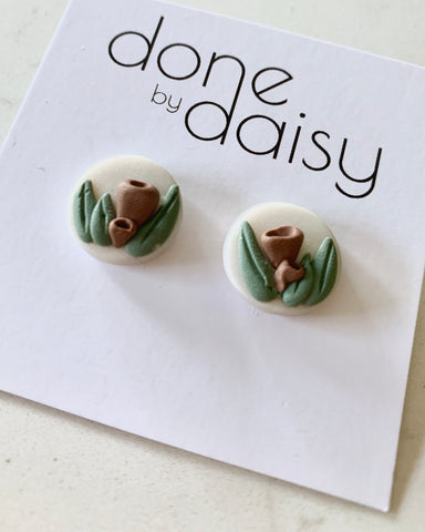 'Aussie Christmas Wreath' small studs