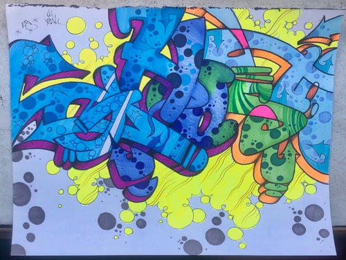 GHOST 8 1/2 X 11 BLACKBOOK DRAWING # 106