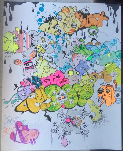 GHOST 8 1/2 X 11 BLACKBOOK DRAWING # 107