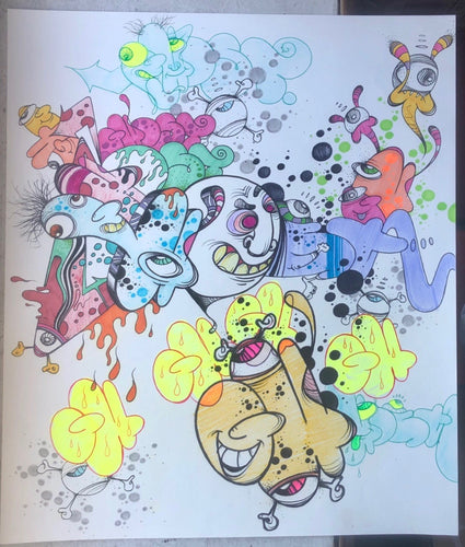 GHOST 10 5/8 X 13 5/8 BLACKBOOK DRAWING # 108