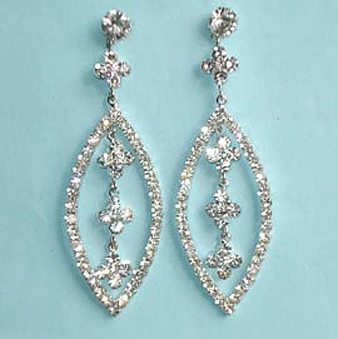 Austrian Crystal Teardrop Chandelier Earrings
