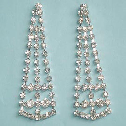 Austrian Crystal Triangle Dangle Dressy Earrings