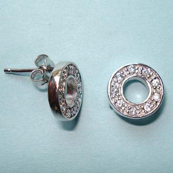 "Circle of Life ""O"" Earrings on Posts, Sterling Silver"