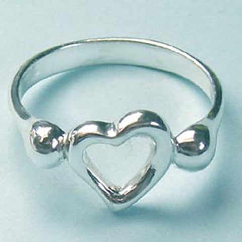 Open Heart Ring, Designer Inspired Sterling Silver