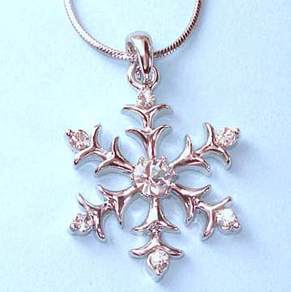 Silver Look Snowflake with CZ