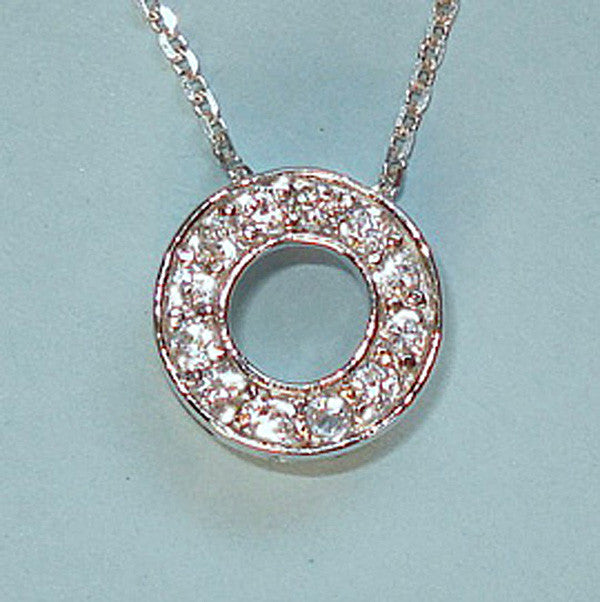 Small Circle of Life CZ Sterling Silver Necklace