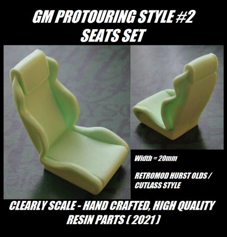 Clearly Scale GM Pro Touring Seats Style #2  Set of 2