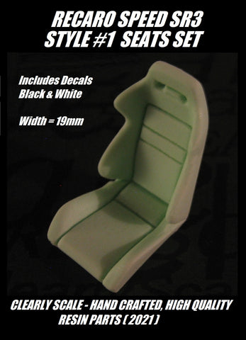 Clearly Scale Recaro Speed SR3 Style#1 Seats with decals (set of 2)