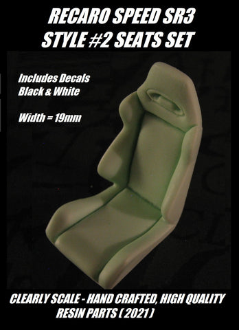 Clearly Scale Recaro Speed SR3 Style #2 Seats with decals (set of 2)