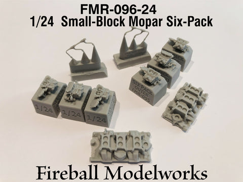 Holley Six Pack Carbs for Small Block Mopars  1/24th Scale