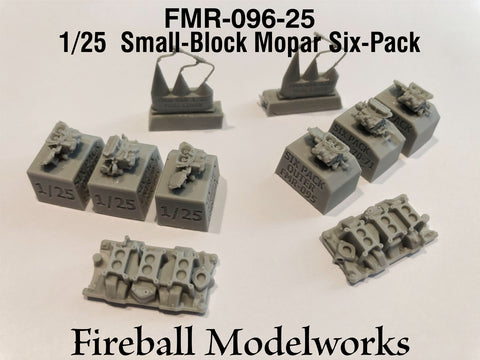 Holley Six Pack Carbs for Small Block Mopars  1/25th Scale