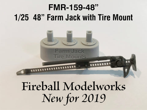 "Farm Jack  48"" Spare Tire Mount 1/25th Scale"