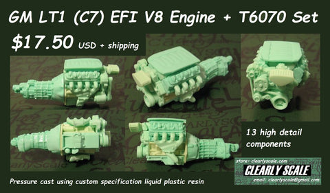 GM Lt1 (C7) EFI V8 engine set 1/25th scale