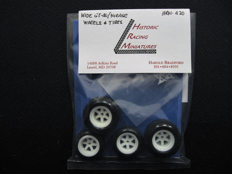 Ford GT40 Wide Wheels and Tires 1/24th scale