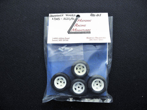 Ferrari Competition Wheels and Tires 1/24th scale