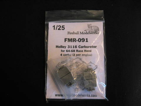 Holley 3116 Carbs  2 Sets of 2  1/25th Scale