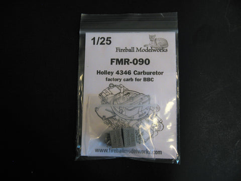 Holley 4346 Carbs  Set of 2 1/25th Scale