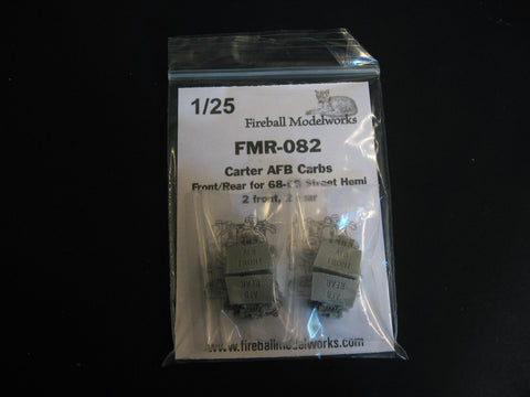 Carter AFB Carbs  2 Sets of 2  1/25th Scale