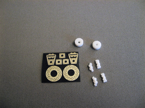 Drilled Rotor and Brake Set, Rear 1/25th Scale
