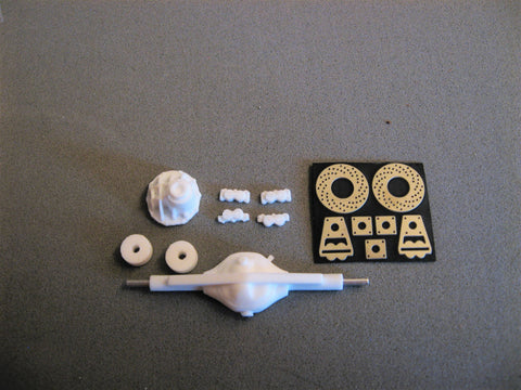 Narrowed OEM 9-Inch Ford Rear End Kit w/Brakes 1/25th Scale