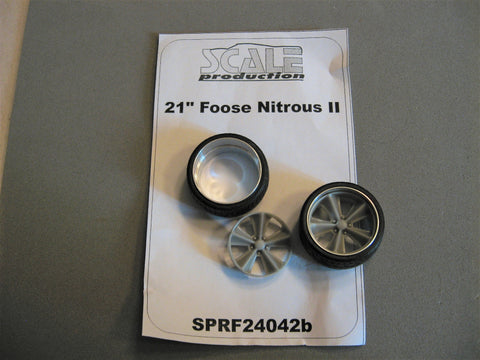 "21"" Foose Nitrous ll  Set of 2 Wheels with Tires  1/24-1/25th Scale"