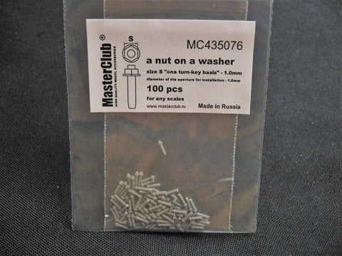 Nut on a Washer  1.0mm  All Scales