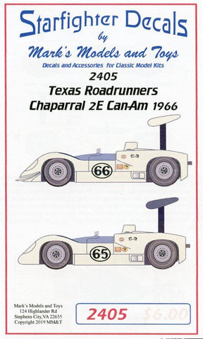 Chaparral 2E  Can-Am Decals