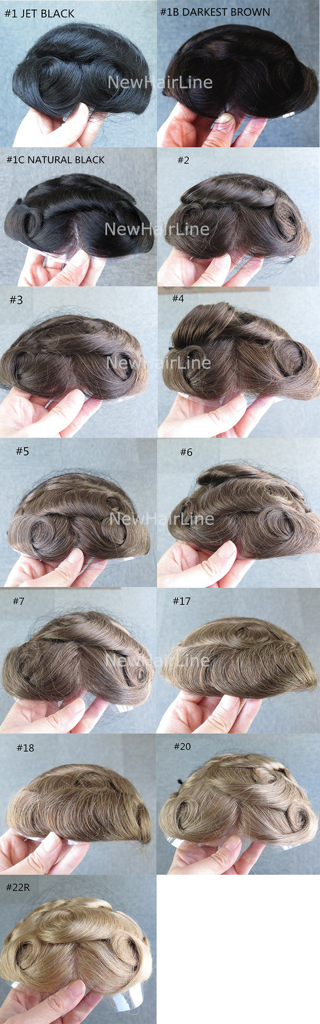 Hair Replacement Systems Toupee For Men Color Chart Newhairline