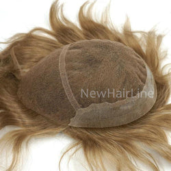 French Lace Hairpiece Closure Down Hair Replacement Systems - NewHairLine
