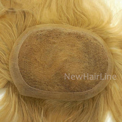 Swiss Lace Natural Hairline Invisible Knots Hairpiece - NewHairLine