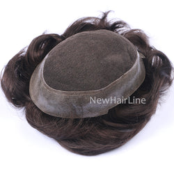 Thin PU with French lace in Middle Toupee For Men