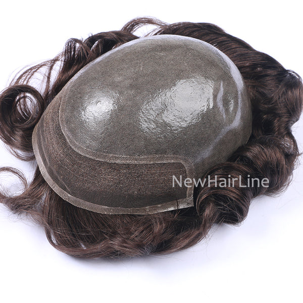 Thin PU with Lace Front Man Hair System