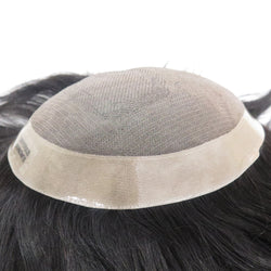 Mono Center Pu Around Toupee Hair Replacement Systems - NewHairLine