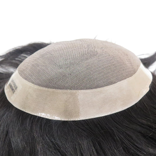 Mono Center Pu Around Toupee Hair Replacement Systems