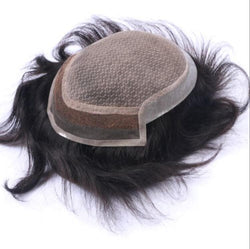 Thin Skin on Sides And Back with Injection Lace Middle Toupee