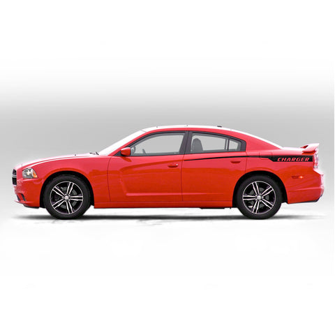 Dodge Charger 2011-2014 quarter panel accent side decals - US Rallystripes