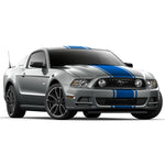 Ford Mustang 2013-2014 center racing stripes pre-cut decal set - US Rallystripes