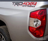 Set of 2: 2016-2018 TRD 4X4 offroad Toyota Tacoma Tundra bedside sticker w/ clear background - US Rallystripes