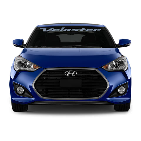 Hyundai Veloster 2011 & Up windshield banner pre-cut decal - US Rallystripes