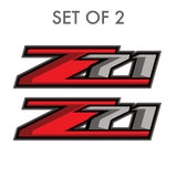 Set of 2: Z71 decal for 2017-2019 Chevrolet Silverado GMC Sierra pickup truck bedside - US Rallystripes