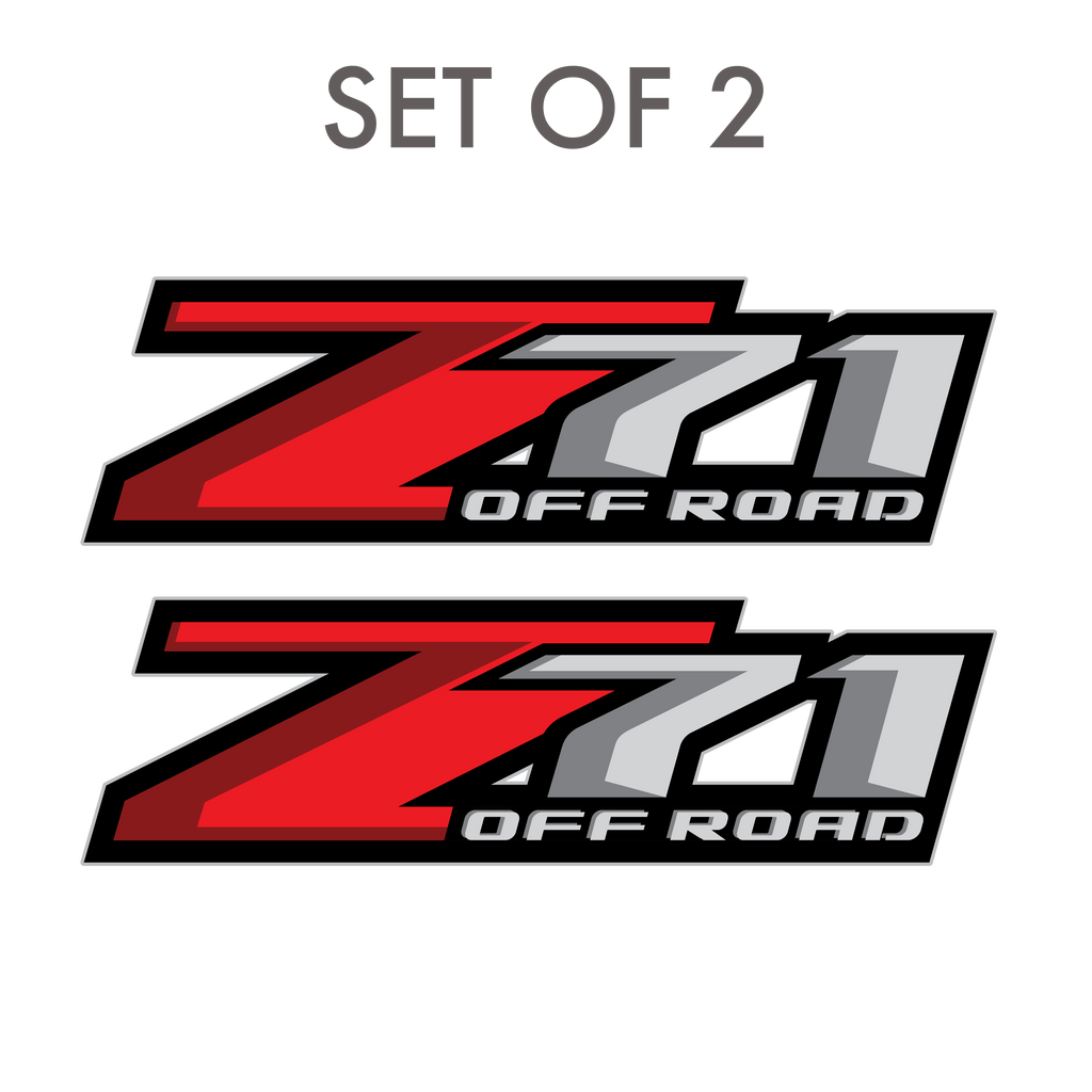 2 Z71 Decals Truck Chevrolet Chevy 4x4 offroad Blacked Out Set of