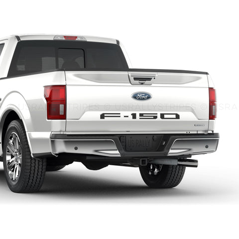F-150 tailgate insert letters vinyl stickers for Ford pickup F-150 2018-2020 - US Rallystripes