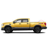 Set of 2: PRO-4X CF 2015-2019 Nissan Titan XD pickup truck bedside full color decal - US Rallystripes