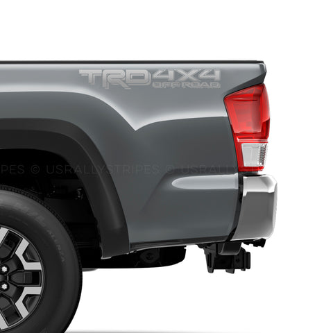 Set of 2: 2019 TRD 4x4 off-road vinyl decals for Toyota Tacoma Tundra 4Runner - US Rallystripes